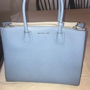 NWOT Michael Kors bag.  Powder blue leather